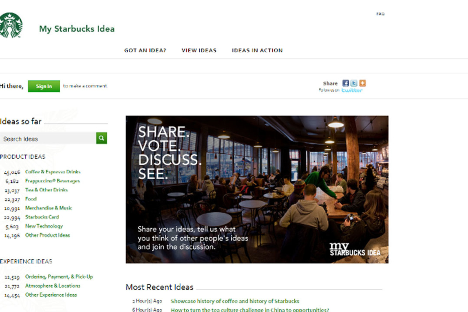 How Starbucks Crowdsources its Ideas on its Online Community